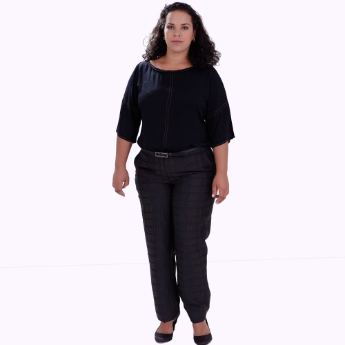 Túnica Aretha Black Plus Size
