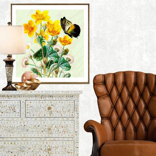 Quadro Decorativo Frésia Amarelo