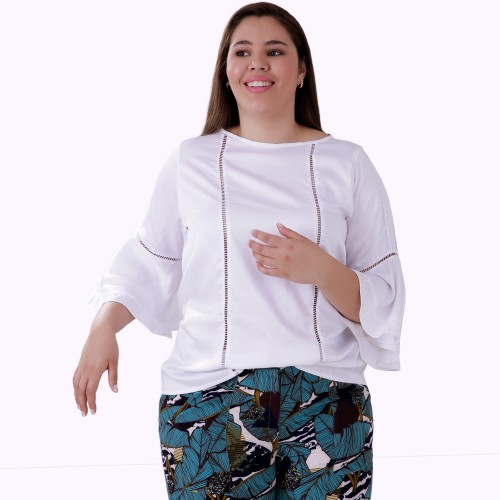 Blusa Ajhur Viscose Plus Size