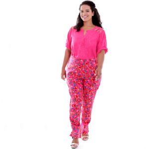 Blusa Alessia Pink Plus Size