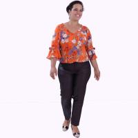 Blusa Antonella Orange Plus Size