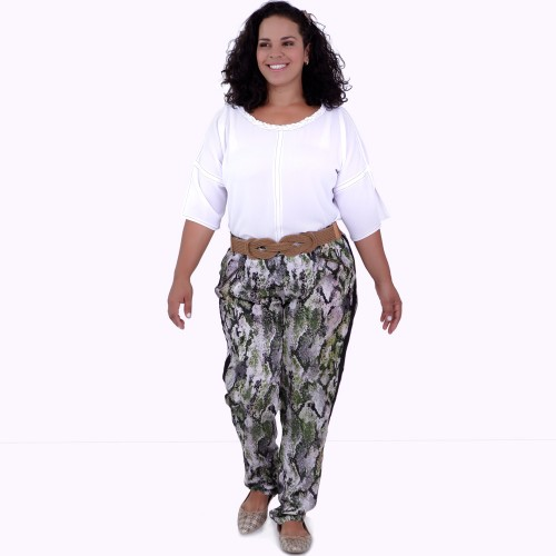 Blusa Aretha Branca Plus Size