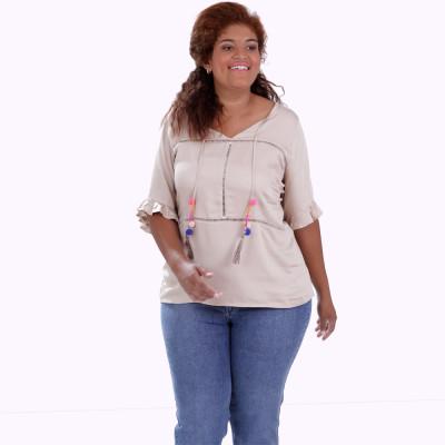 Blusa Asha Viscose Plus Size