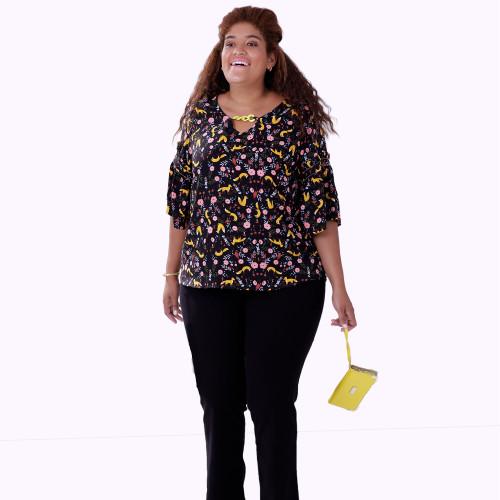 Blusa Blackpearl Preta Plus Size
