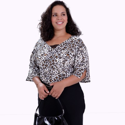 Blusa Brenda Onça Plus Size