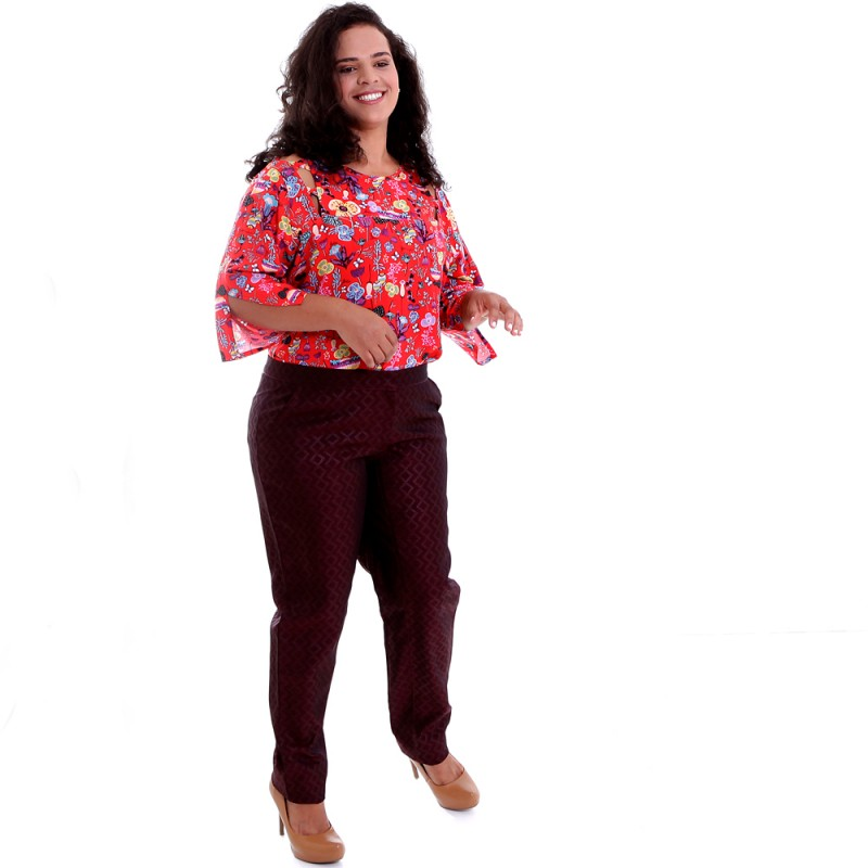 Blusa Carlota Rosso Plus Size