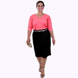 Blusa Cecília Craqueleti Plus Size