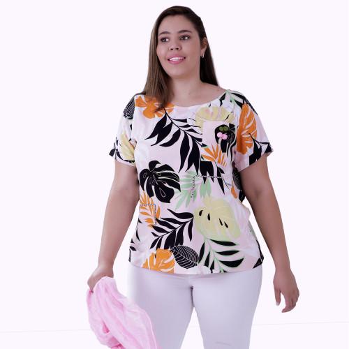 Blusa Cherry Viscose Plus Size