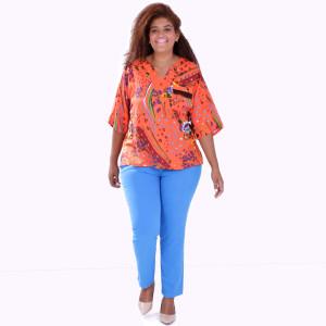 Blusa Cibele Franja Plus Size