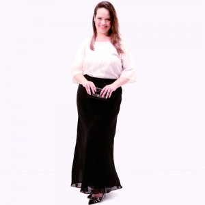 Blusa Craquelete Off White Plus Size