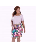 Blusa Decote Corrente Plus Size