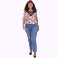 Blusa Florisbela Aplicação Plus Size