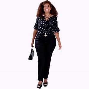 Blusa Genise Decote Xis Plus Size