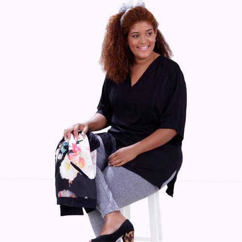 Blusa Jaqueline Preto Plus Size