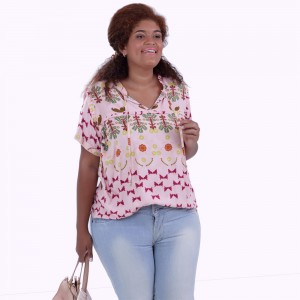 Blusa Judy Estampada Plus Size