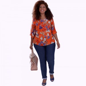 Blusa Lanna  Orange Plus Size