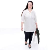 Blusa Mais Comprida Plus Size