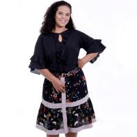 Blusa Preta Jabôo Plus Size