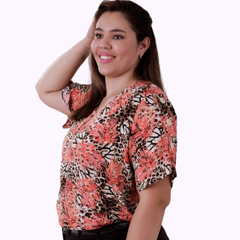 Blusa Raio Viscose Plus Size