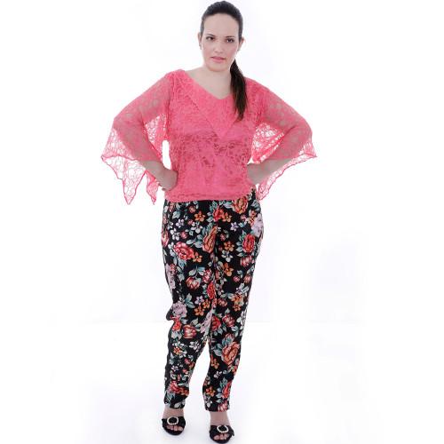 Blusa Renda Melância Plus Size