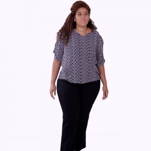 Blusa Repuxe Upstart Plus Size