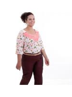 Blusa Rosa Mya Aplicação Plus Size