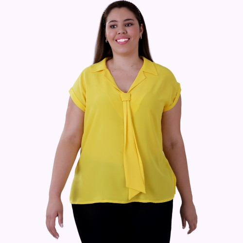 Blusa Seda Gold Plus Size