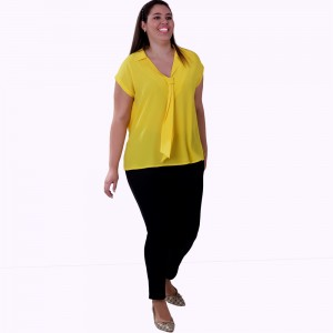 Blusa Seda Gold Plus Size