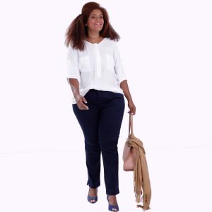 Polo Briana Dois Bolsos Plus Size