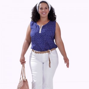 Regata Franciele Zipper Plus Size