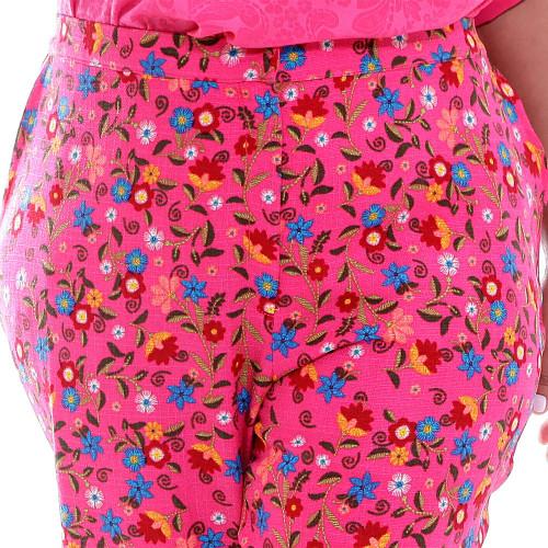 Calça Emanuelly  Flores Plus Size