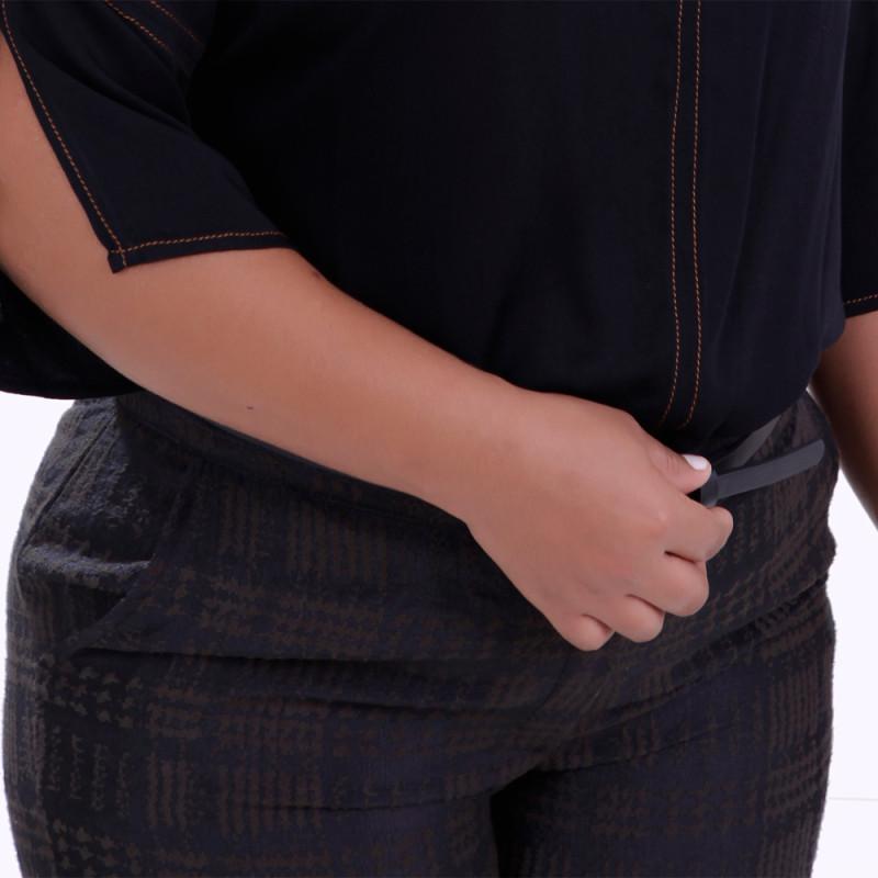 Calça Social Jacquard Habie Plus Size