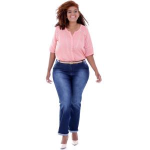 Camisa Brandi Pink Ajhur Plus Size