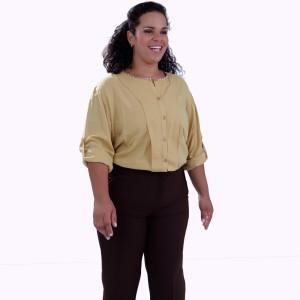 Camisa Géorgia Aba Plus Size