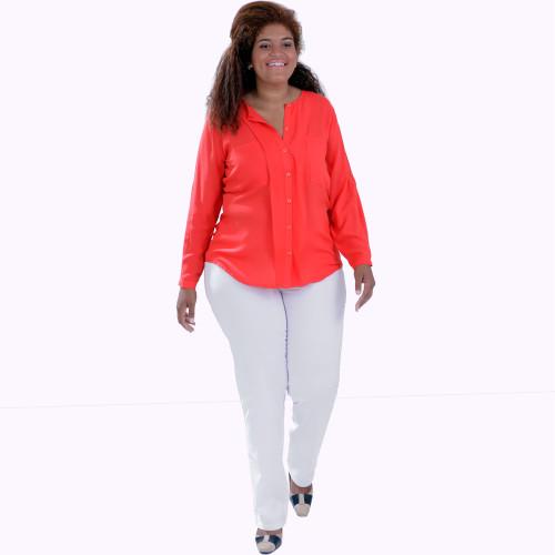 Camisa Géorgia Coral Aba Plus Size
