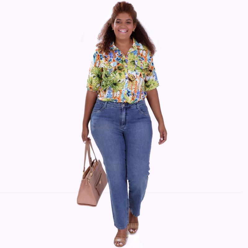 Camisa Marta Estampada Plus Size