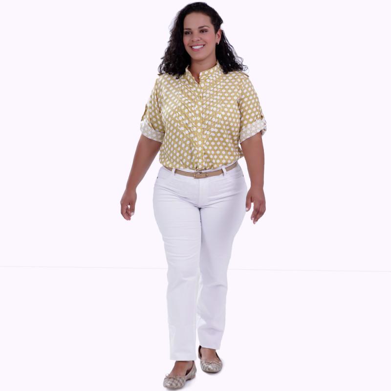 Camisa Mirian Colmeia Plus Size