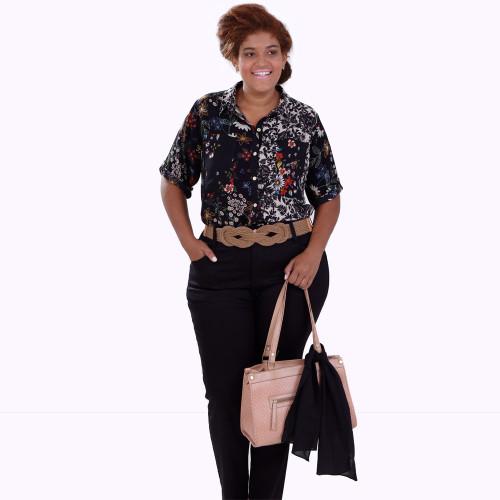 Camisa Mix Estampas Charlote Plus Size