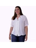 Camisa Onásis Tomas Off White Plus Size