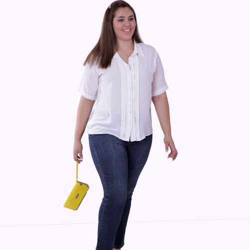 Camisa Onásis Tomas Off White Plus Size
