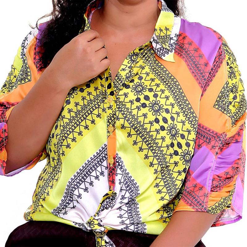 Camisa Rita Plus Size