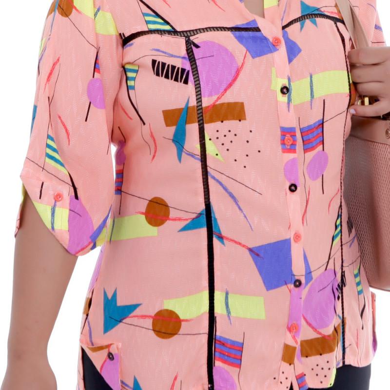 Camisa Rosa Martina Ajhur Plus Size