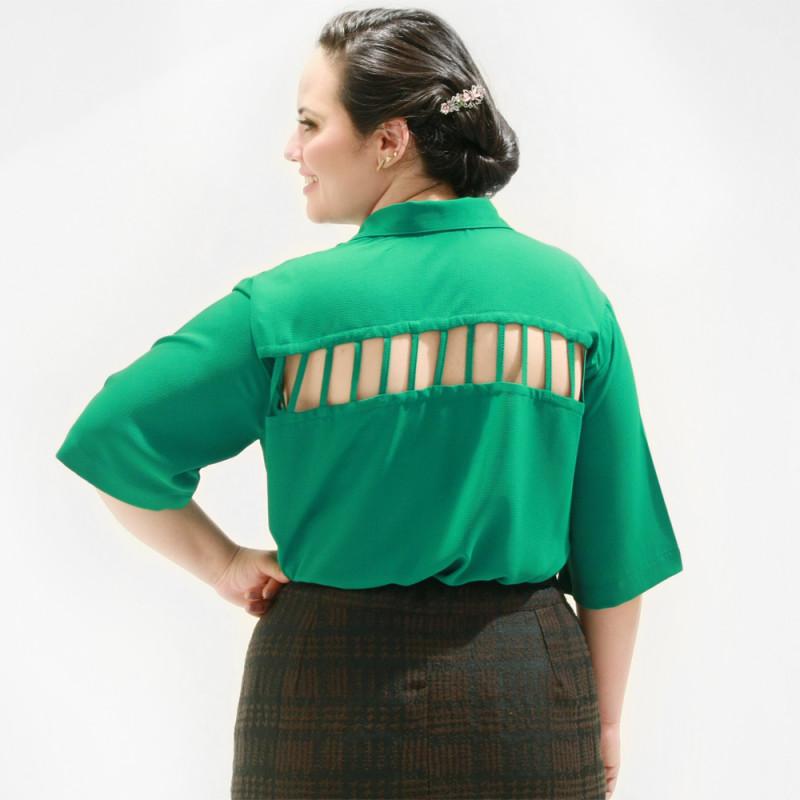 Camisa Treliça Plus Size