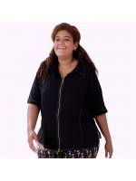 Camisa Zipper Lenda Plus Size