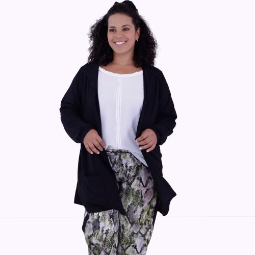 Cardigan Júlia Black Plus Size