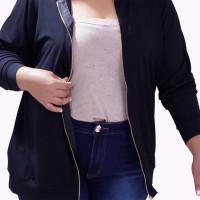 Cardigan Zipper Fernanda Plus Size