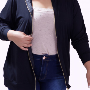 Cardigan Zipper Fernanda Plus Size