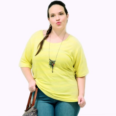 Camiseta Astral Malha Plus Size