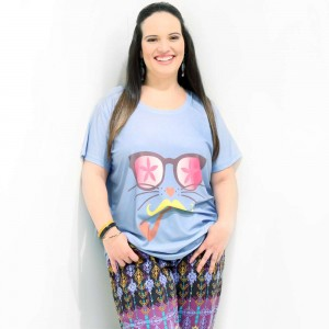Camiseta Cat Dali Plus Size