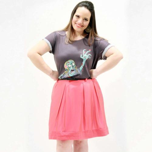 Camiseta Garota Zumbi Plus Size